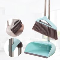 Wholesale plastic brooms dustpans for sale - Group buy Quality Broom Dustpan Suit Foldable Household Cleaning Tools Plastic PP Broom Combination Soft Hair Clean Dustless Helper Sets