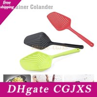 Wholesale vegetables pasta resale online - Plastic Shovels Vegetable Strainer Scoop Nylon Spoon Large Colander Soup Filter Pasta Heat Resistant Strainer Kitchen Tools Dbc Bh3153