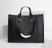 Wholesale top shops for sale - Group buy 2020 top women Genuine leather designer Onthego handbags tote twist handbag messenger Shopping bag shoulder pockets Totes Cosmetic Bag