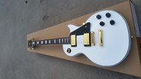 Wholesale china made electric guitar resale online - in stock white electric guitar china custom shop made EMS made in china cool