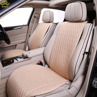 Wholesale fashion flax resale online - 1pcs Brand Car Seat Cover Universal Natural Flax Seat Cover Car Protector Fashion Summer Cushion Pure Linen Fabric