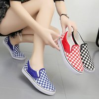Wholesale denim sneakers for girls for sale - Group buy 2020 Autumn New Fashion Canvas Shoes Woman Sneakers for Girls Lace up Fashion Denim Flat Shoes Solid Casual Shoes Tennis Sneaker