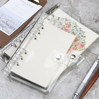 Wholesale hand binder for sale - Group buy PVC Transparent Notebook Binder Bundle A6 Waterproof Notebook Protector Notepads Loose leaf hand book Office School Supplies A11