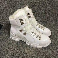 Wholesale full leather shoes for men resale online - 2020winter Martin Boots tie belt warm snow boots Brand shoes for men and women Genuine leatherThick bottom short boots Large size US11