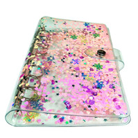 Wholesale hand binder for sale - Group buy A6 Notepads Colorful shell learning hand ledger transparent loose leaf shell simple business notebook quicksand binder shell A10