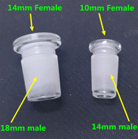 Wholesale 10mm female to mm male glass adapter converter for glass bong quartz banger glass bowl mm female to mm male Reducer Connector