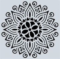 Wholesale art stencils for painting resale online - Hot Arts Craft styles cm Mandala Stencils DIY home decoration drawing Laser cut template Wall Stencil Painting for Wood Tiles Fabric