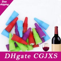 Wholesale grips bar for sale - Group buy Silicone Reusable Wine Bottle Stoppers Grip Stainless Steel Silicone Liquor Beer Beverage Bottle Stopper Bar Tools Provided Fba Ship Hh7