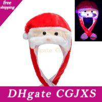 Wholesale kids plush hat cap resale online - Beard Moving Santa Hat Christmas Hat Cartoon Plush Lovely Cap Masquerade Carnival Cap Christmas Kids Adult Cosplay Accessories Hha1035