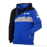 Wholesale yamaha racing blue resale online - 2019 Motogp Motorcycle Jacket For Yamaha M1 Racing Team Paddock Blue Zip Hoody Adult Men s Moto GP Hoodie Sports Sweatshirt