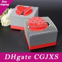 Wholesale d baby for sale - Group buy Creative D Wing Ladybug Cute As A Bug Candy Box Diy Gift Baby Christening Baptsim Gifts Party Supplies Za1393