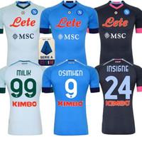 Wholesale jersey naples resale online - 20 Napoli soccer jersey Naples football shirt KOULIBALY camiseta de football INSIGNE MILIK jerseys H LOZANO MERTENS MEN KIDS