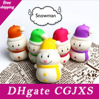 Wholesale toy kids men for sale - Group buy 2018 Kawaii Squishy Toy Snowman Squishies Slow Rising Snow Man Christmas Gift Cell Phone Straps Kids Gift Decompression Toy