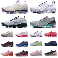 Wholesale max size resale online - 2020 New Arrival vapor max women mens shoes Triple black white red pink trainers Sports designers Sneakers Running Shoes Size