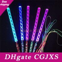 Wholesale shake flash light for sale - Group buy Colorful Bar Shaking Led Glow Sticks Flash Wands Wave Rods Acrylic Kids Light Up Toys Party Decoration Lx1855