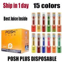 Wholesale portable pods resale online - Newest POSH PLUS Disposable Device Kit Vape Pen mAh ml Puffs Prefilled Pods Cartridges Starter Kits Disposable Portable ecigs Vapor