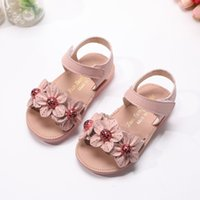 Wholesale sandal shose for sale - Group buy 2020 New Fashion Flower Baby Shose For Kids Little Girl Princess Toddler Children Summer Beach Sandals Size Years
