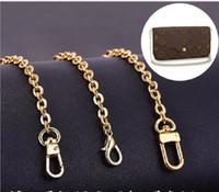 Wholesale handles straps resale online - 100cm Metal Stainless Steel Purse Chain Strap Handle Shoulder Crossbody Handbag Bag Belt Metal Replacement Bag Accessories Shoulder Strap