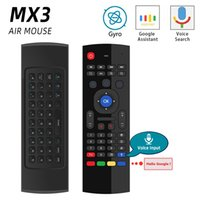 Wholesale MX3 MX3 L Backlit Air Mouse Universal Smart Voice Remote Control G RF Wireless Keyboard for Android tv box H96 Max X96 mini
