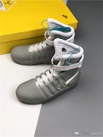 Wholesale air mag future for sale - Group buy Air Mag Shoes Automatic Laces Marty Casual LED Shoes Back To The Future Glow In The Dark Gray Black Mag Marty McFlys Sneakers Shoes With Box