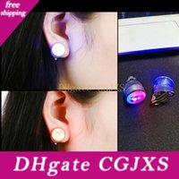 Wholesale dance earrings studs resale online - Fashion Led Stud Earring Clip Led Earrings Studs Dance Party Accessories Unisex For Men Women Za5642