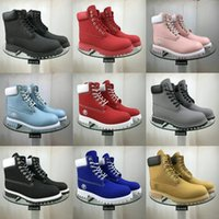 pato botas homens venda por atacado-Big Size 35-45 High Top Botas Mulher Lace-Up Shoes Inverno Valentine Duck Botas Midcalf Motos Botas Men # 973