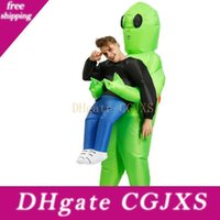 Wholesale Inflatable Monster Costume Scary Green Alien Cosplay Costume For Adult Halloween Party Festival Stage Pick Me Up