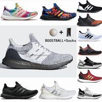 Wholesale With Socks Boostball Ultraboost Running Shoes Ultra Boost Primeknit Trainers Black Smoke Grey Woodstock Womens Mens Sneakers
