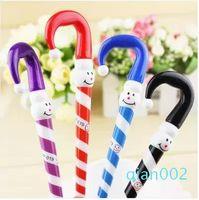 Wholesale umbrella pens resale online - Cute Umbrella Design Ballpoint Pen for Students Gifts Lovely Cartoon Christmas Snowman Ballpoint Pen Office Writing Supplies