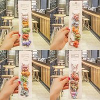 Wholesale small rubber animals resale online - Five rubber Rubber children s accessories hair small animal girl cartoon hair band baby candy stretch cute band QcrI