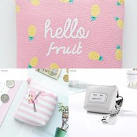 Wholesale cute simple wallets resale online - Creative coin purse girl Wallet bag cute children s pu small wallet Korean style simple small bag cartoon student fresh