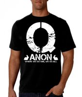 Wholesale patriot style for sale - Group buy Q Anon Black Shirt Patriot T Shirt Trump Qanon Maga New Summer Style T Shirt Man Print T Shirt Hipster Cotton Tops