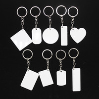 Blank sublimation bag accessories charms key chain pendant double-sided printable diy custom ornaments aluminum sheet with hanging buckle
