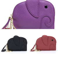 Wholesale elephant purse for sale - Group buy Thin personalized fashion mini soft cowhide bag wallet coin bag women s cute coin purse ins genuine leather creative elephant