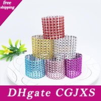 Wholesale wedding rhinestone decorations for napkins resale online - New Rhinestone Napkin Rings For Wedding Table Decoration Nickle Or Rose Gold Plating Napkin Rings