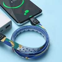Wholesale cell phone charge cable online – Neck Lanyard Data Cable Universal Creative USB Fast Charging Cable Suitable For Cell Phone ID Card Key Chain Straps Party Favor Gift LJJP386