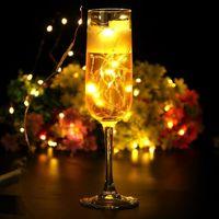 Wholesale seed vine resale online - Party decoration Micro Led Seed Vine Vase Lights Wedding Centerpiece Fairy String Light m Waterproof Christmas Easter decor ZA2259