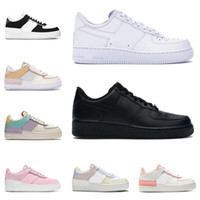 casual walking schuhe rosa groihandel-nike air force 1 af1 shoes shadow Frauen Männer Turnschuhe Plateauschuhe Low Top Pale Triple White Coral Pink Pistazien Frost Sapphire Herren Tennis Trainer Freizeitschuh