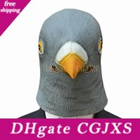 Wholesale giant masks for sale - Group buy Factory Price New Pigeon Mask Latex Giant Bird Head Halloween Cosplay Costume Theater Prop Masks