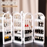 Wholesale pendulum jewelry for sale - Group buy rack Hanging earrings subnet red display floor vertical pendulum multi functional storage large capacity jewelry Hanging ear creative Ii9Ui