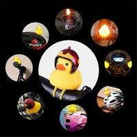 Wholesale motor led lights for sale - Group buy Cute Bicycle Duck Bell with Light Broken Wind Small Yellow Duck MTB Road Bike Motor Helmet Riding Cycling Accessories Led Lights AHF933