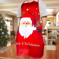 Wholesale floral aprons for sale - Group buy Lovely Christmas Apron Cute Santa Garland Tree Deer Floral Print Decoration Party Supplies
