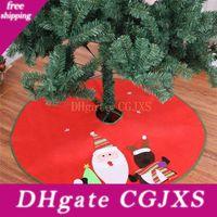Wholesale pc diameter resale online - 1 Christmas Tree Skirt Diameter cm Santa Claus Deer Pattern New Year Christmas Trees Decor Xmas Party Decoration Supplies