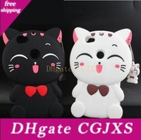 Wholesale lucky cat iphone case online – custom 3d Lucky Cat Striped Pig Case Cover With Pendant Cute Soft Silicone For Iphone Xs Max Xr X s Plus Samsung S8 S9 Plus