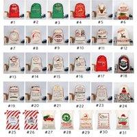 Wholesale 31 style bags for sale - Group buy 31 STYLES Christmas Gift Bags new Christmas Bag Drawstring Bag With Reindeers Santa Claus Sack Bags For Santa Sack kid Bag EEA1868