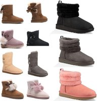 ugg boots frauen groihandel-ugg women men kids uggs slippers furry boots slides  SALE New Fashion Australien klassische NEUE Frauen Stiefel Bailey BOW Stiefel Schneeschuhe für Frauen Stiefel Winter HxeE #