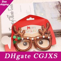 Wholesale designer eyeglasses frame for sale - Group buy Christmas Glasses Red Snowflake Elk Eyeglass Frame Kid Adult Party Dress Up Toys Family Party Cosplay Christmas Decoration Hh9 A2558