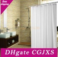 Wholesale modern fabric curtains resale online - Bathroom Shower Curtain Mildew Resistant Waterproof Antibacterial Elegant White Polyester Shower Curtain Liner R575