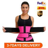 US STOCK, DHL Ship, Men Women Shapers Waist Trainer Belt Corset Belly Slimming Shapewear Adjustable Waist Support Body Shapers FY8084