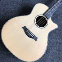Wholesale electric acoustic guitars for sale - Group buy Rosewood Back and Side Solid Spruce Top Cutaway Acoustic Electric Guitar